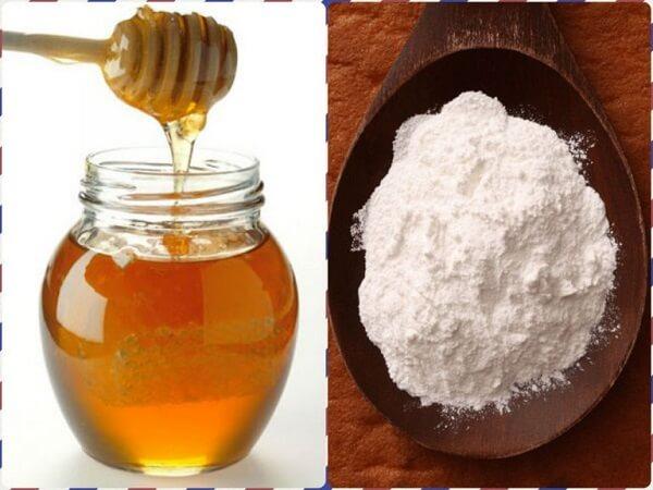 Tẩy tế bào chết bằng baking soda với mật ong 1