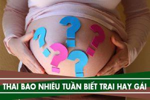 Mang thai bao nhiêu tuần thì biết trai hay gái