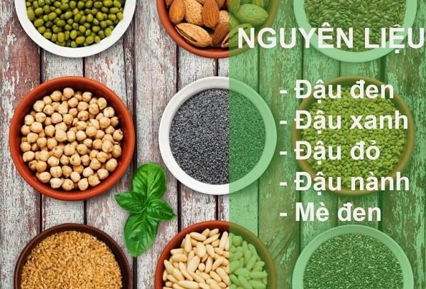 Nguyên liệu để làm bột ngũ cốc cho bé