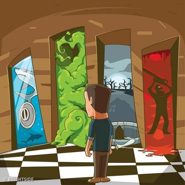 Câu đố ly kỳ: 'Nên bước qua cánh cửa nào để sống sót?'