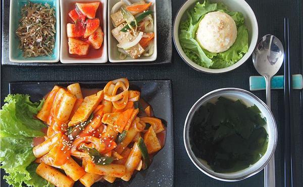 Thực đơn tại Kimchi Kimchi cực kì phong phú.