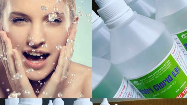 Trả lời câu hỏi rửa mặt bằng nước muối sinh lý hằng ngày có tốt không?