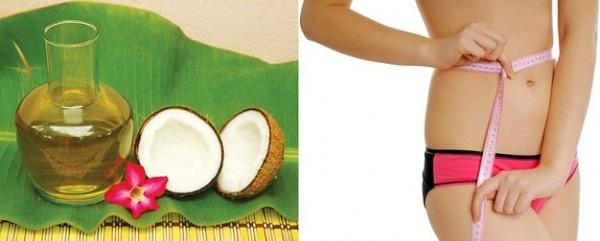 Tác dụng của dầu dừa nguyên chất trong giảm cân