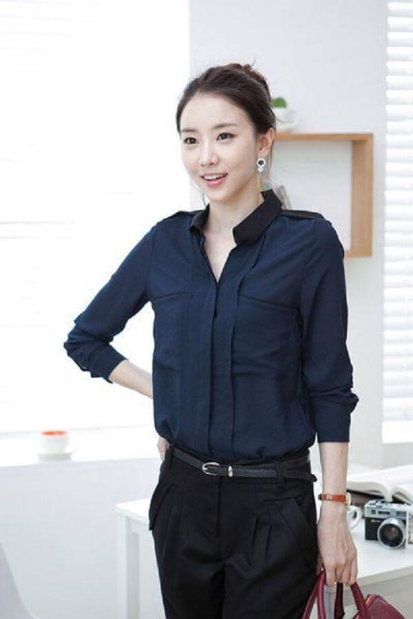 15 kiểu áo sơ mi công sở nữ đẹp, áo sơ mi nữ Hàn Quốc cao cấp