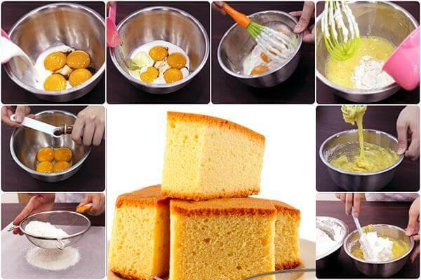 3 Cách làm bánh bông lan theo công thức phổ biến nhất – cach lam banh bong lan