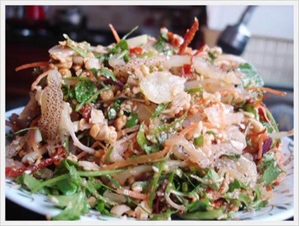 Nộm sứa - Cách làm các món ăn chống ngán ngày hè, giải ngấy ngày Tết