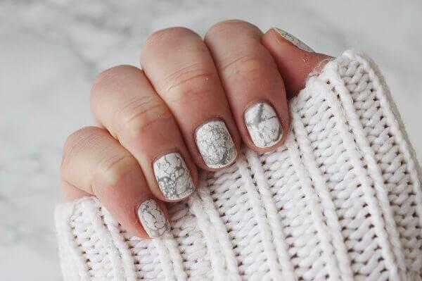 Hoa tiết nail cẩm thạch