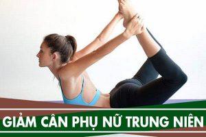 Bài tập thể dục giảm mỡ bụng cho phụ nữ trung niên đơn giản