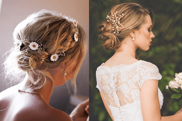 Bới tóc cho cô dâu có mái tóc ngắn