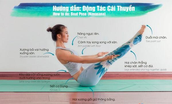 Động tác Yoga Boat giúp giảm mỡ bụng hiệu quả