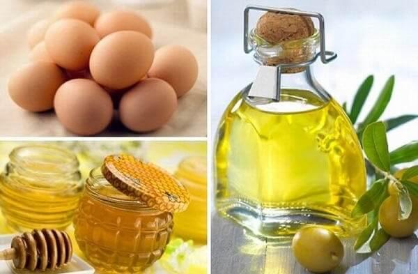 Cách dưỡng trắng da sử dụng dầu dừa, mật ong và lòng đỏ trứng gà.