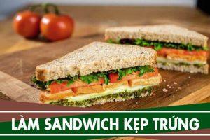 Cách làm bánh mì sandwich kẹp trứng đơn giản chỉ 5p