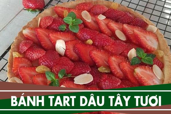 Cách làm bánh tart dâu tây tươi - Strawberry and custard tart