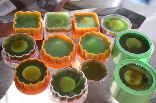 Đổ khuôn bánh trung thu rau câu – cách làm bánh trung thu rau câu