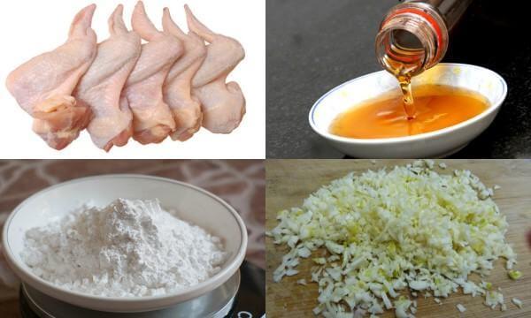 Các nguyên liệu cần chuẩn bị - Cách làm cánh gà chiên nước mắm tỏi
