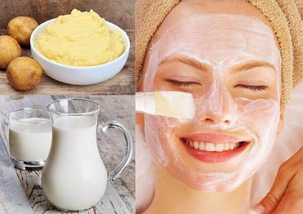 Cách làm mặt nạ khoai tây sữa tươi làm trắng da mặt-hình số-3