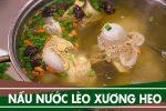 Cách nấu nước lèo hủ tiếu, ăn bún súp ngon ngọt với xương heo