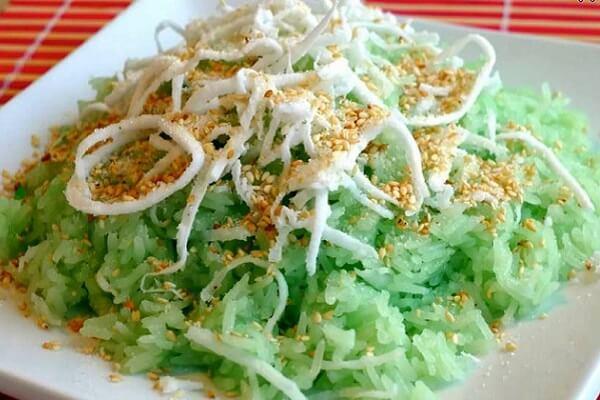 Cách nấu xôi dừa lá dứa cốt dừa bằng nồi cơm điện ngày Tết đơn giản nhất