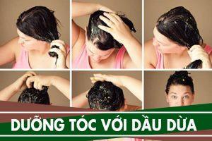 Cách dùng dầu dừa dưỡng tóc, cách ủ tóc bằng dầu dừa