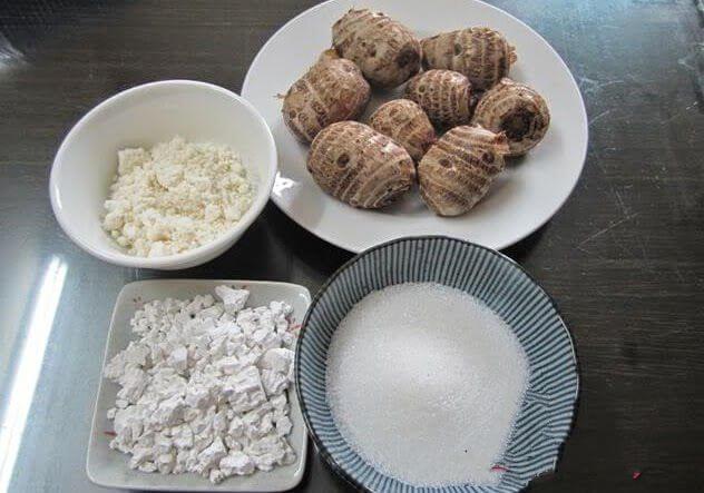Nguyên liệu chính để nấu chè khoai sọ – cách nấu chè khoai sọ