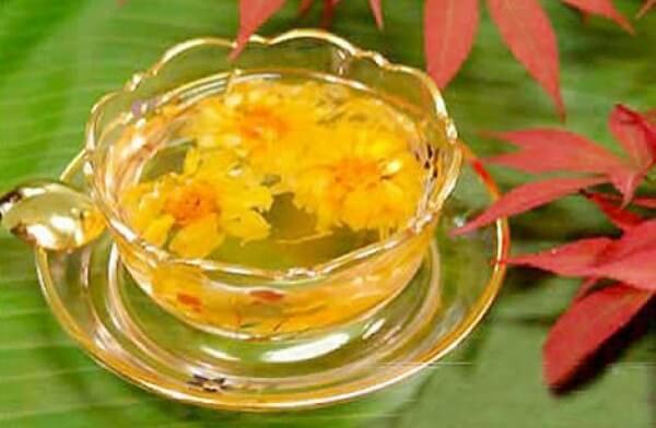 nên ăn lá cúc tươi để kích thích sự hấp thụ chất dinh dưỡng nhờ vào vị đắng của nó