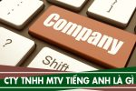 Công ty Trách Nhiệm Hữu Hạn Một Thành Viên tiếng anh là gì