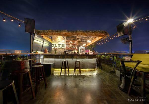 Zuma Rooftop Bar -địa chỉ các quán bar ở sài gòn