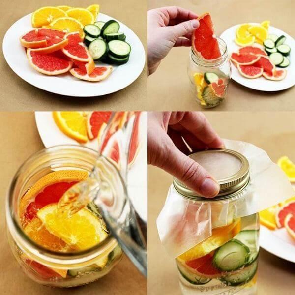 Detox giảm cân hiệu quả nhờ lượng vitamin A và C dồi dào từ cam và bưởi