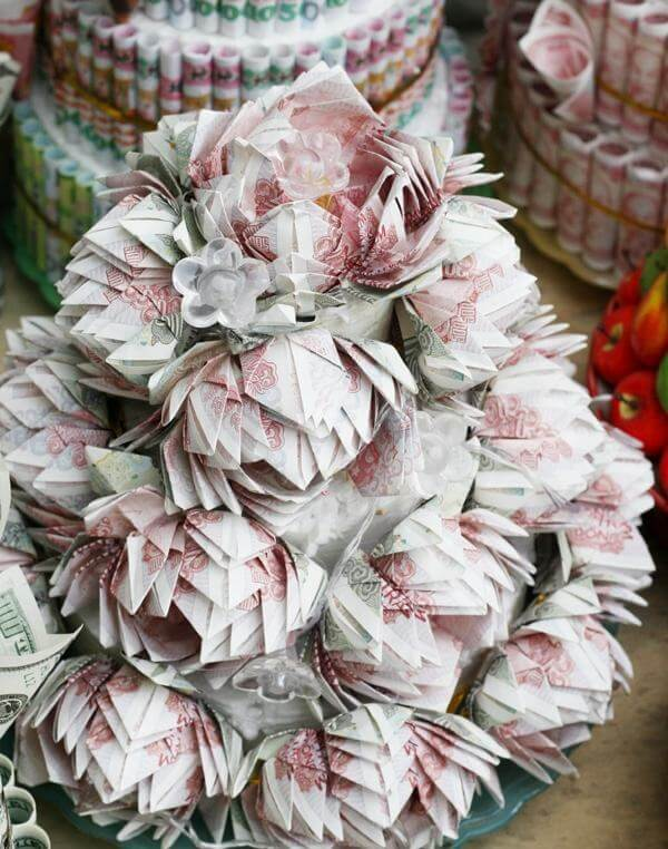 Hình các bó hoa sinh nhật bằng tiền và đô la đẹp độc đáo và cực bá đạo, lầy lội