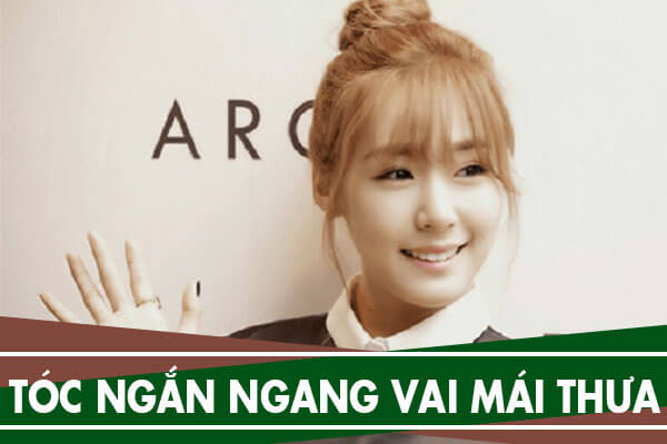 12 kiểu tóc ngắn ngang vai mái thưa Hàn Quốc mặt tròn, mặt dài