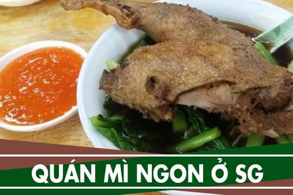 5 quán mì ngon ở Sài Gòn – Ăn mì ở đâu ngon nhất