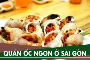 10 quán ốc ngon rẻ ở Sài Gòn tại Tân Bình, Gò Vấp, Quận 1