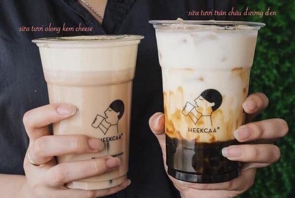 Sữa tươi trân châu đường đen Heekcaa by Heytea