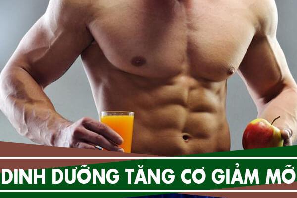 Thực đơn dinh dưỡng tăng cơ giảm mỡ cho nam tập Gym