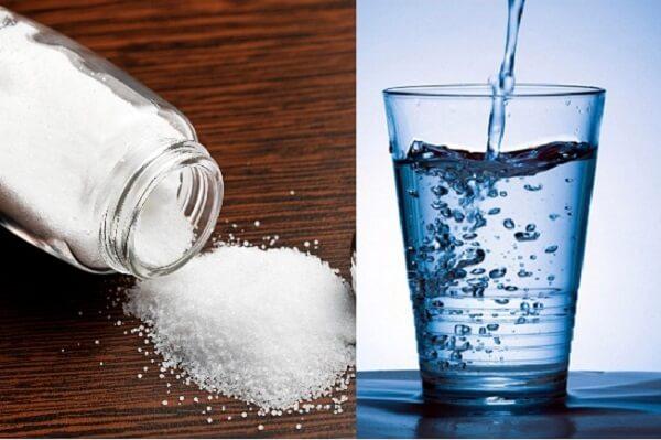 có thể cho bệnh nhân uống nước muối loãng để cầm máu